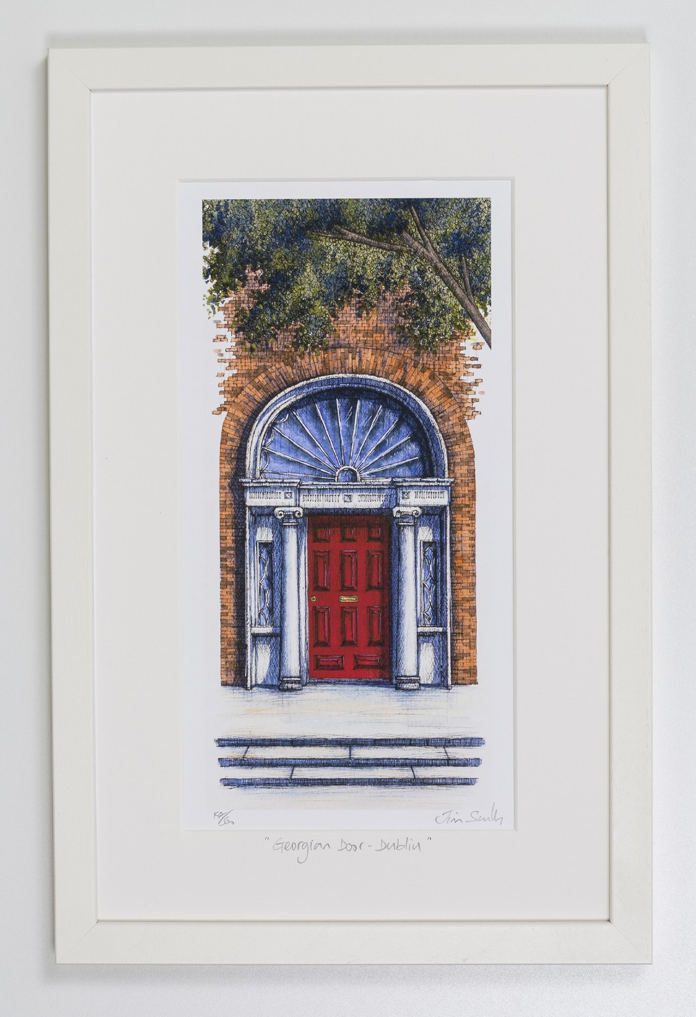 Georgian-Door-Red-Dublin-Portrait-Frame