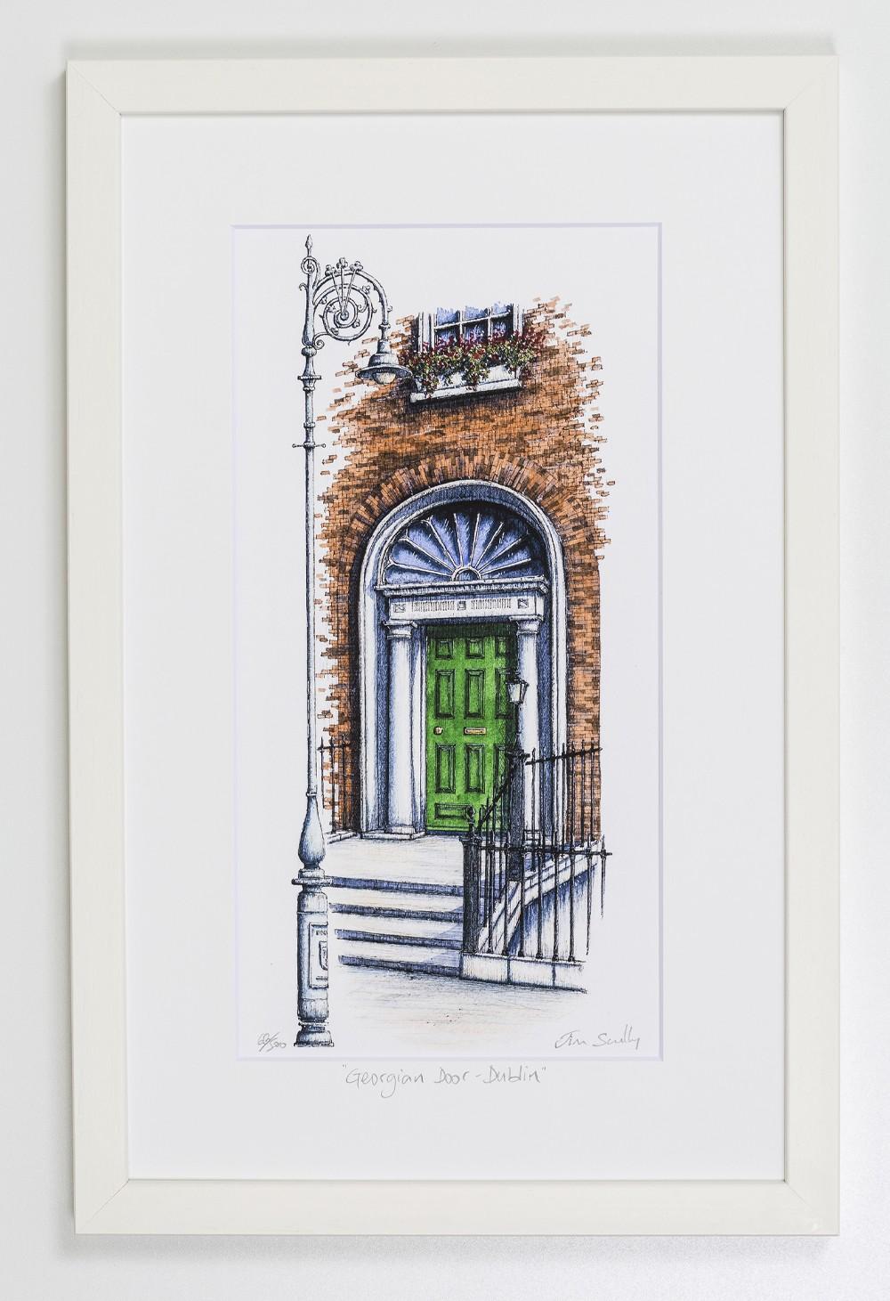 Georgian-Door-Green-Dublin-Portrait-Frame