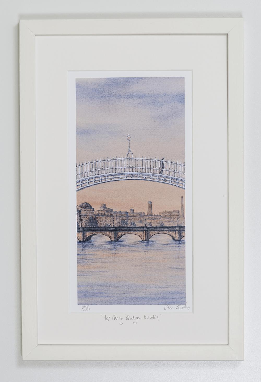 Ha-Penny-Bridge-Sunset-Dublin-Portrait-Frame
