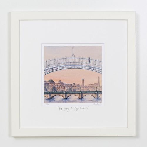 Ha-Penny-Bridge-Sunset-Dublin-Square-Frame